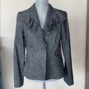 Said Fifth Avenue Heather Gray Wool Blazer